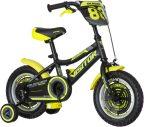 KPC Ranger 12 fekete-sárga gyerek kerékpár