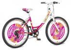Explorer Fashion 24 gyerek kerékpár HAJMERESZTŐ ÁRON Rózsaszín