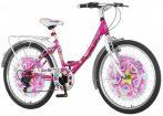 Explorer Disco Star 24 gyerek kerékpár HAJMERESZTŐ ÁRON Rózsaszín