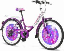 Explorer Fashion 24 gyerek kerékpár HAJMERESZTŐ ÁRON Fehér-Lila