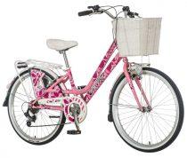 Visitor Rózsa 24 gyerek kerékpár HAJMERESZTŐ ÁRON Rózsaszín