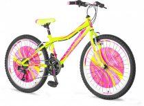 Explorer Magnito 24 gyerek kerékpár HAJMERESZTŐ ÁRON Zöld-Rózsaszín