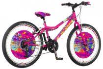 Explorer Magnito 24 gyerek kerékpár HAJMERESZTŐ ÁRON Rózsaszín
