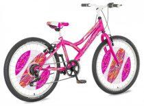 Explorer Daisy rózsaszín 24 gyerek kerékpár HAJMERESZTŐ ÁRON