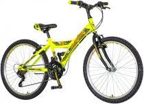Venssini Parma 24 gyerek kerékpár Fekete-Sárga