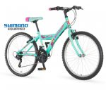 Venssini Parma 24 gyerek kerékpár Shimano Türkiz