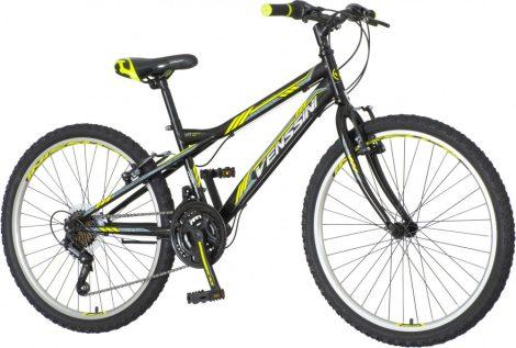 Venssini Parma 24 gyerek kerékpár Fekete-Sárga-Szürke