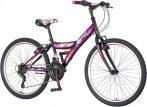 Venssini Parma 24 gyerek kerékpár Fekete-Lila