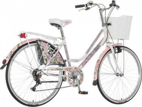Visitor Oltenia virágos városi kerékpár  fehér