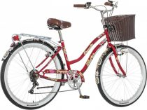 Visitor Deepwater virágos női cruiser kerékpár LEGJOBB AJÁNLAT piros