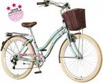 Visitor Bubilas virágos női cruiser kerékpár világoskék