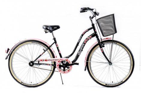Explorer Cherry Blossom kontrás városi kerékpár  Fekete
