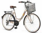 Explorer Elite Lady városi kerékpár kontrás Cappuccino
