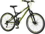 Explorer Vortex 26 tárcsafékes gyerek MTB kerékpár Fekete-Sárga
