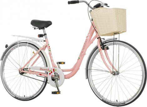 Venssini Diamante 26 rózsaszín női városi kerékpár