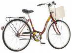 Visitor Napraforgó városi kerékpár LEGJOBB AJÁNLAT Bordó