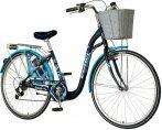 Visitor Eternity városi kerékpár Kék kontrás