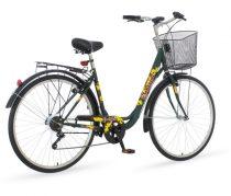 Venssini Great Wave női váltós városi kerékpár Zöld