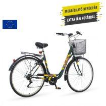 Venssini Great Wave női kontrás városi kerékpár Zöld