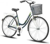 Scout Lowland női városi kerékpár Grafit-Fehér