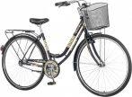 Visitor Lowland női városi kerékpár Fekete