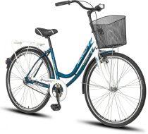 Scout Lowland női városi kerékpár Fehér-Kék