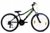 KPC Dennis 24 teleszkópos gyerek kerékpár Fekete