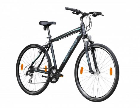 Gepida Alboin 200 PRO CRS crosstrekking kerékpár Fekete