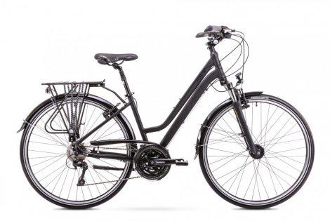 Romet Gazela 6 női trekking kerékpár Fekete