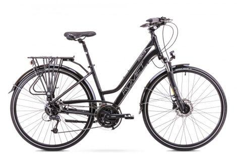 Romet Gazela 5 női trekking kerékpár Fekete