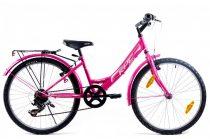KPC Fairy 24 6 sebességes gyerek kerékpár Rózsaszín