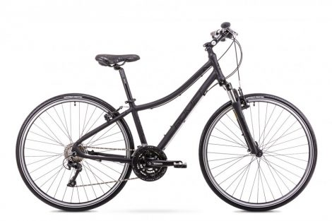 Romet Orkan 5 női crosstrekking kerékpár Fekete