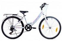 KPC Candy 24 6 sebességes gyerek kerékpár Fehér