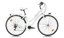 Ferrini Millionere női városi kerékpár fehér-kék