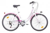 Ferrini Emotion női városi kerékpár fehér-rózsaszín