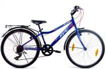 KPC Franky 24 6 sebességes gyerek kerékpár Kék