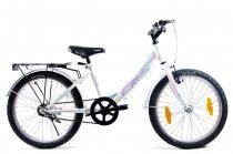 KPC Candy 20 kontra fékes gyerek kerékpár Fehér