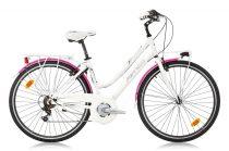 Ferrini Millionere női városi kerékpár fehér-rózsaszín
