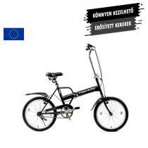 "Capriolo Travel 1 sebességes 20"" camping kerékpár fekete"