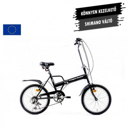"Capriolo Travel 6 sebességes 20"" camping kerékpár fekete"