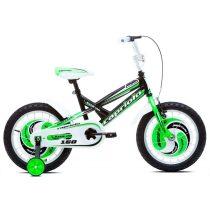 Capriolo Mustang 16 gyermek kerékpár fekete-zöld