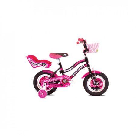 """Adria Fantasy 12"""" gyerek kerékpár Fekete-Rózsaszín"""