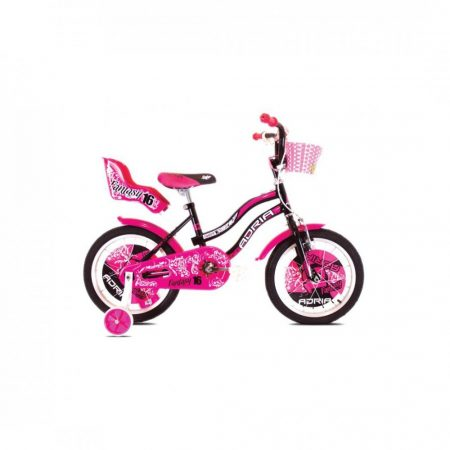 """Adria Fantasy 16"""" gyerek kerékpár Fekete-Rózsaszín"""