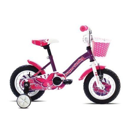"""Capriolo Viola 12"""" gyerek kerékpár Lila-Fehér"""