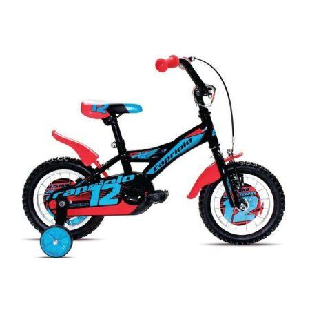"""Capriolo Mustang 12"""" gyerek kerékpár Fekete-Kék"""