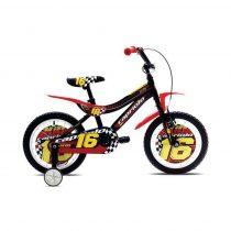"""Capriolo Kid 16"""" gyerek kerékpár Fekete-Piros-Sárga"""