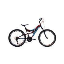 """Capriolo CTX 240 24"""" gyerek kerékpár Fekete-Kék-Piros"""