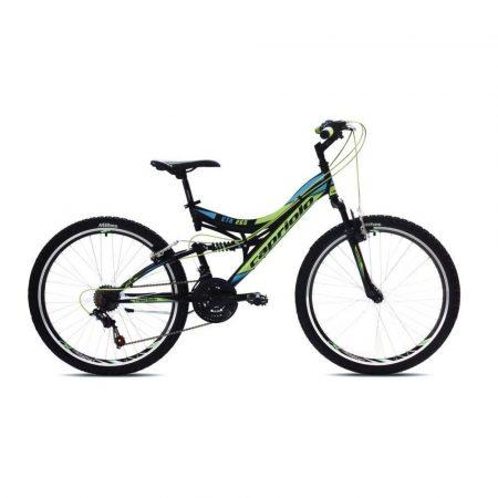 """Capriolo CTX 260 26"""" összteleszkópos kerékpár Fekete-Zöld-Kék"""
