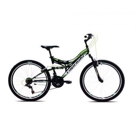 """Capriolo CTX 260 26"""" összteleszkópos kerékpár Fekete-Fehér-Zöld"""