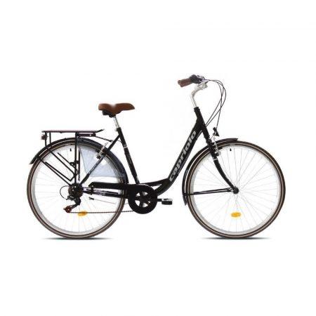 """Capriolo Diana 6 sebességes női városi kerékpár 20"""" Fekete"""